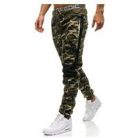 Spodnie męskie dresowe joggery moro-zielone denley qn269 marki P&l fashion