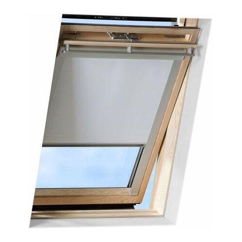 Velux Roleta na okno dachowe manualna standard dkl mk10 78x160 zaciemniająca szara (5702326751202)