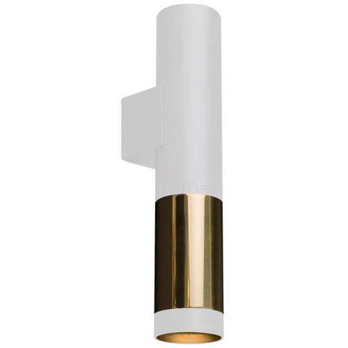 Amplex Kinkiet lampa ścienna kavos 0392 okrągła oprawa metalowa tuba sopel biały złoty