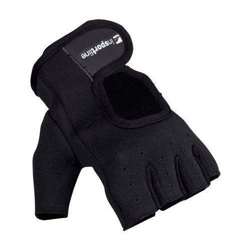 Neoprenowe rękawice do ćwiczeń fitness inSPORTline Aktenvero, Czarny, S