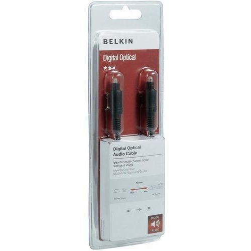 Kabel cyfrowy toslink, , wtyk toslink/ wtyk toslink, czarny, 0,5 m marki Belkin