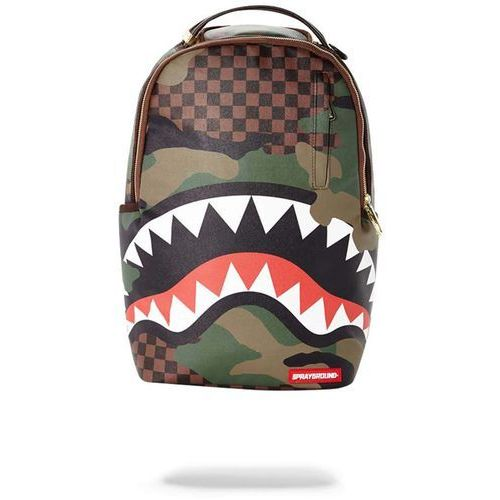Sprayground Plecak - checkered camo shark backpack (multi) rozmiar: os