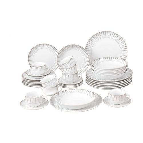 Vente-unique Serwis obiadowy oriana - porcelana -40-częściowy