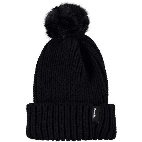 czapka zimowa BENCH - Turn Up Fur Pom Pom Beanie Black Beauty (BK11179) rozmiar: OS