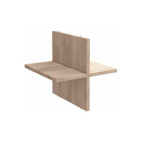 Spaceo Półka krzyżakowa 32.6 x 32.7 x 1.6 cm dąb kub