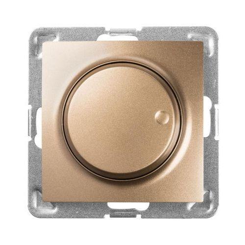 Ospel impresja łp-8yl2/m/28 ściemniacz uniwersalny do obciążenia żarowego, halogenowego oraz led złoty metalik (5907577478483)