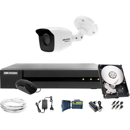 Zestaw do monitoringu obory, komórki Hikvision Hiwatch HWD-6104MH-G2, 1 x HWT-B120-M, 1TB, Akcesoria