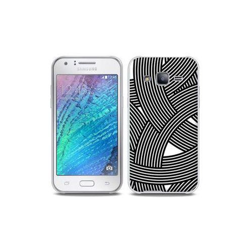 Samsung Galaxy J5 - etui na telefon Full Body Slim Fantastic - biało-czarna mozaika, ETSM210FBSFFC027000