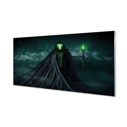 Obrazy akrylowe mroczne postać zielony ogień marki Tulup.pl