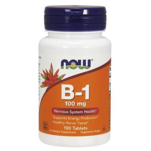 Now Foods Witamina B-1, 100 mg, 100 tabletek
