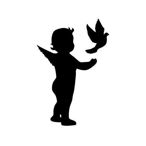 Szablon malarski z tworzywa, wielorazowy, wzór dla dzieci 53 - aniołek marki Szabloneria