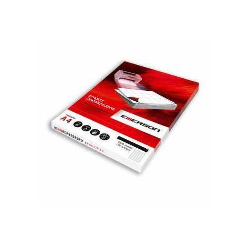 Etykiety 52,5 x 29,6 mm, 40 szt/a4 uniwersalne (g) - x06654 marki Emerson