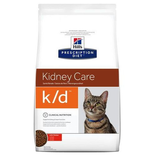 Hills prescription diet feline k/d kidney care - nerki - 2 x 5 kg (0052742430805)