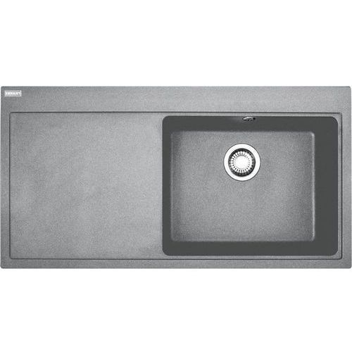 Zlew Franke MTG 611 komora z prawej Kamienny Szary 114.0330.979 (zamów wycięcie otworów gratis)