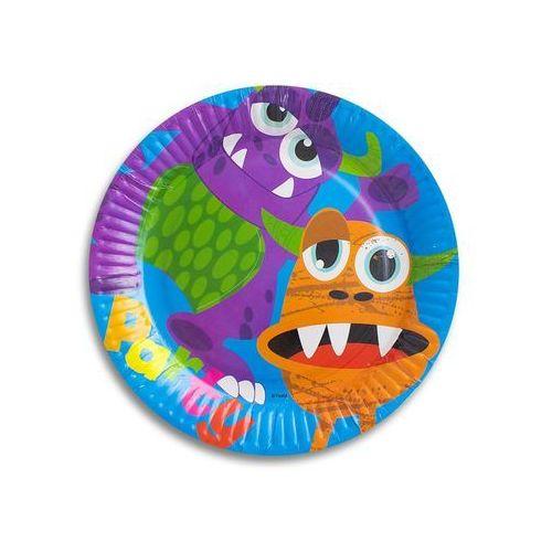 Talerzyki papierowe potwory - 23 cm - 6 szt. marki Godan
