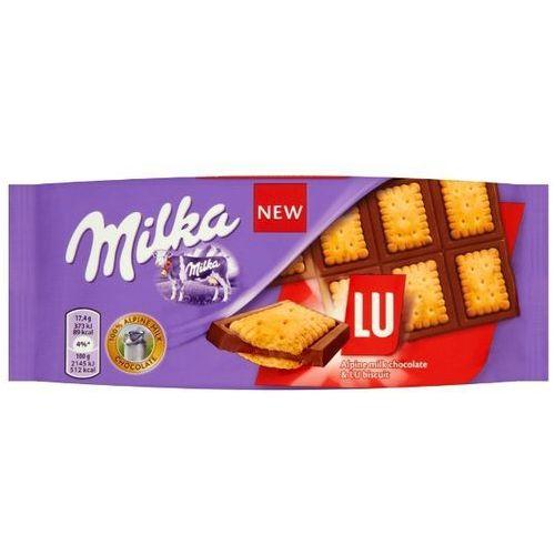 MILKA 87g Lu Czekolada mleczna z mleka alpejskiego z ciasteczkami