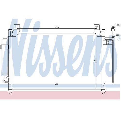 Skraplacz, klimatyzacja NISSENS 940049