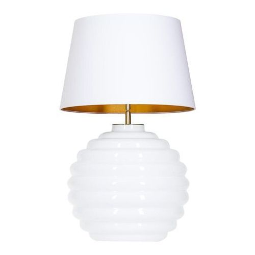 4concepts Lampa oprawa stołowa saint tropez white 1x60w e27 biały/złoty l215922251