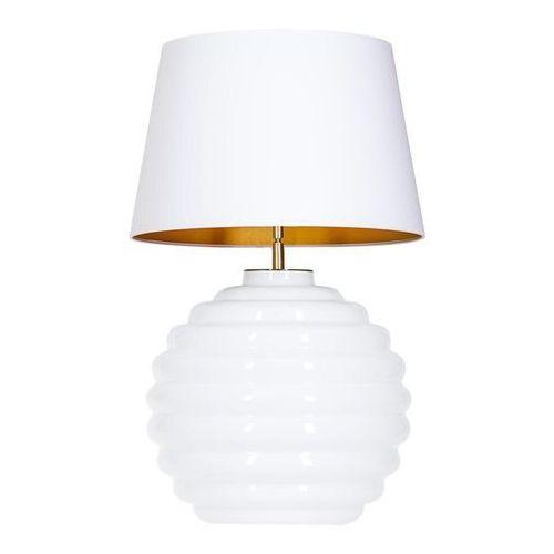 4concepts Lampa oprawa stołowa saint tropez white 1x60w e27 biały/złoty l215922251 (5901688145302)
