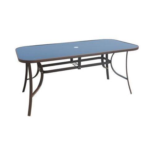Stół ogrodowy 90 x 160 cm CINO brązowy, kolor brązowy