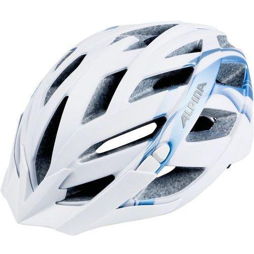 Alpina panoma l.e. kask rowerowy niebieski/biały 52-57cm 2018 kaski rowerowe (4003692261601)