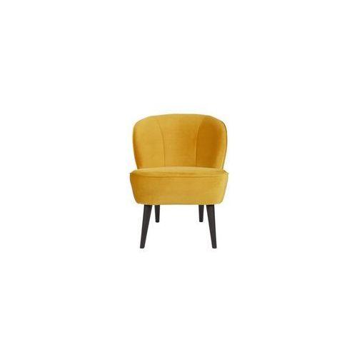 :: fotel sara z aksamitu, ochra - musztardowy marki Woood