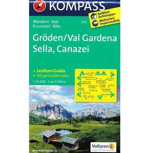 Dolina Val Gardena mapa 1: 25 000 Kompass