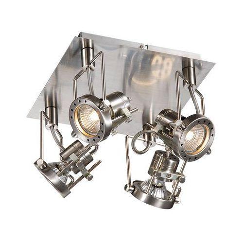 Italux Plafon lampa sufitowa robot robot-4sq industrialna oprawa metalowa reflektorki satyna (5900644318590)