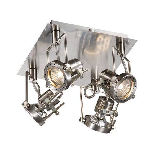 Plafon lampa sufitowa robot robot-4sq industrialna oprawa metalowa reflektorki satyna marki Italux