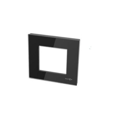TouchMe Ramka pojedyncza szklana czarna TM728B