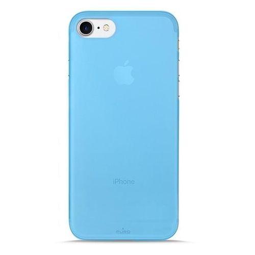 Puro Etui  ultra slim 0.3 cover-zestaw etui+folia na ekran iphone 7 niebieski (8033830173172)