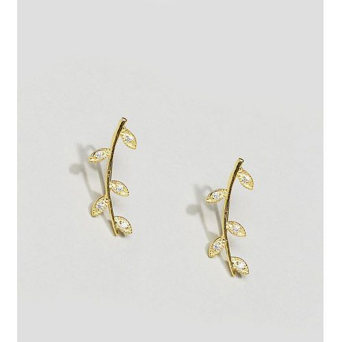 Kingsley Ryan Gold Plated Leaf Ear Climber Earrings - Gold