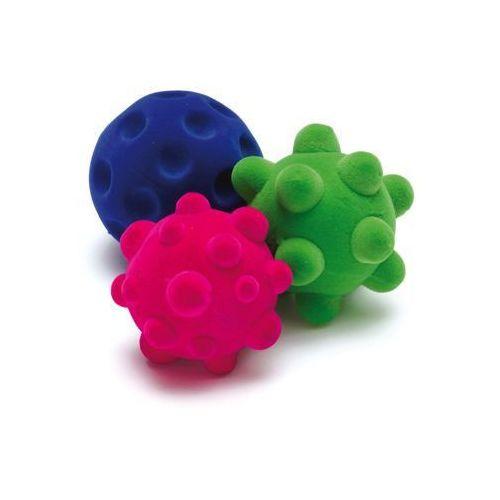 Gumowe piłeczki do ćwiczeń manualnych i małej motoryki 3 szt - zabawki dla dzieci marki Erzi