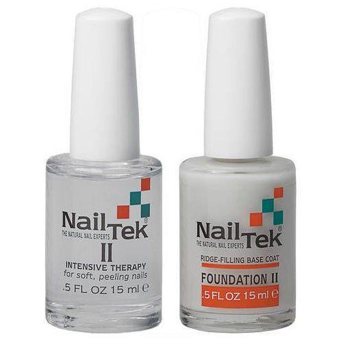Nail tek nailtek intensive therapy ii + foundation ii zestaw najlepszy zestaw dla twoich rozdwajających się paznokci