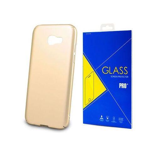 Etui Thin Case do Samsung Galaxy A5 2017 Złoty + Szkło - Złoty
