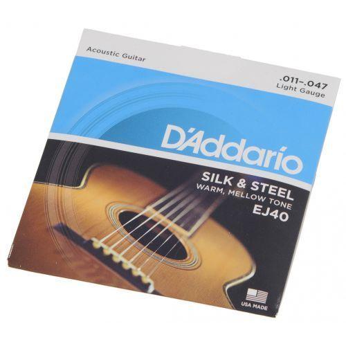 D′Addario EJ40 struny do gitary akustycznej Silk & Steel 11-47