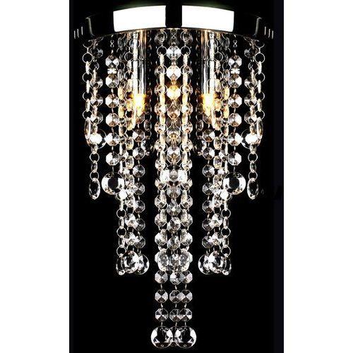 biała metalowa lampa z kryształami marki Vidaxl