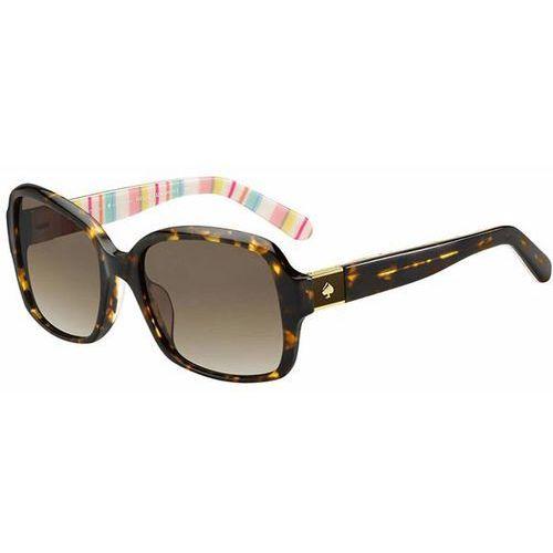 Okulary Słoneczne Kate Spade Annora/P/S Polarized 06HE/LA, kolor żółty
