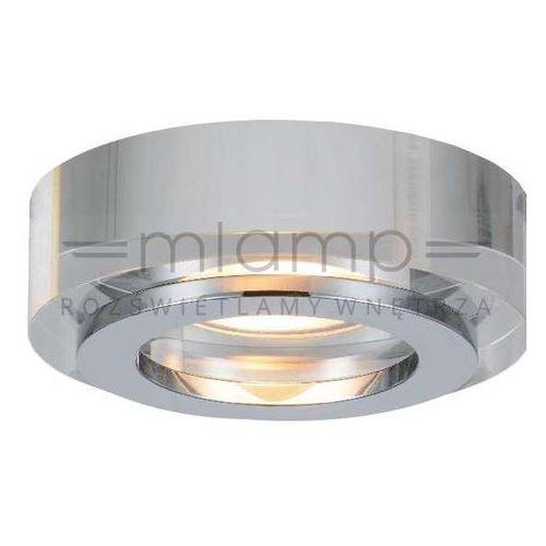 Oczko LAMPA sufitowa MINI ORTO Orlicki Design kryształowa OPRAWA podtynkowa wpust okrągły przezroczysty, MINI ORTO