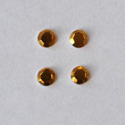 Pentart Dżety hot fix okrągłe 3 mm/60szt. - żółty - żół