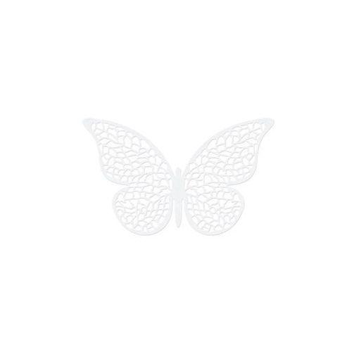 Dekoracja papierowa Motylki duże - 8 x 5 cm - 10 szt. (5901157459282)