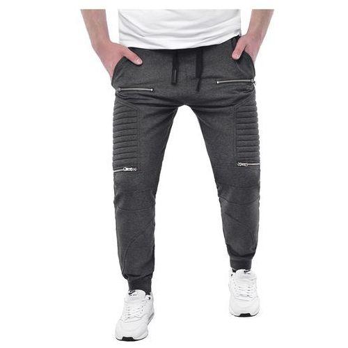 Risardi Spodnie męskie joggery dresowe atc1670a - antracytowe