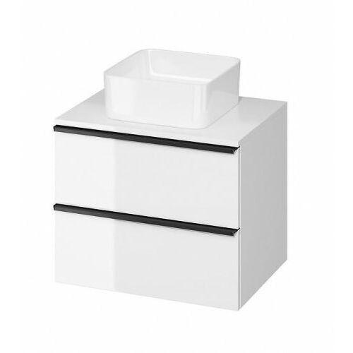 szafka virgo 60 biała połysk pod umywalkę nablatową, czarne uchwyty s522-019 marki Cersanit