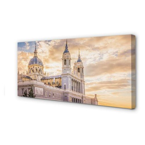 Obrazy na płótnie hiszpania katedra zachód słońca marki Tulup.pl