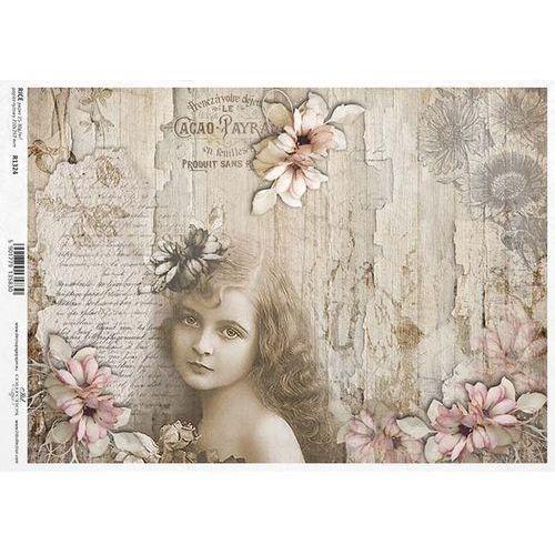 Papier ryżowy 297x210 mm - urocza dziewczynka marki Itdcollection