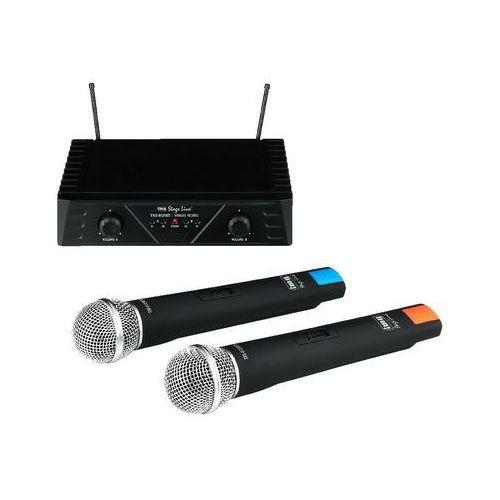Txs-812set - mikrofon bezprzewodowy, podwójny, dwukanałowy, marki Monacor