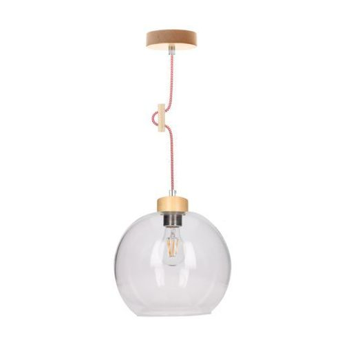 Lampa wisząca zwis oprawa spot light svea 1x60w e27 brzoza/czerwono-biała 1356560 marki Spotlight