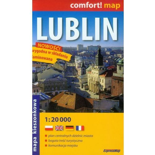 Lublin 1:20 000 kieszonkowy plan miasta, oprawa broszurowa