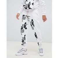 x liam hodges printed panel joggers in white - white marki Fila