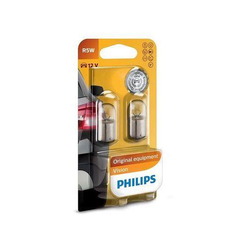ZESTAW 2x Żarówka samochodowa Philips VISION 12821B2 R5W BA15s/5W/12V, PH-12821B2